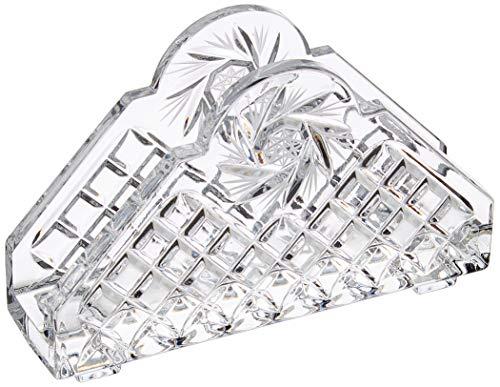 Crystaljulia - Portatovaglioli in Cristallo di Piombo, 11 cm, Trasparente