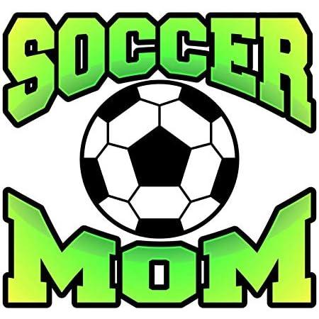 Soccer Mom hearts ball permanent vinyl decal car truck mug window laptop