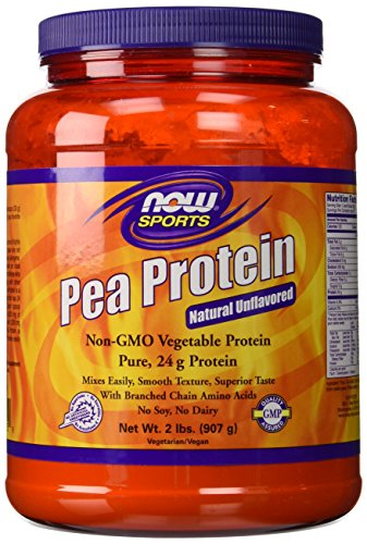 100% Pure Pea Protein Now Foods Powder 2 Pound (Pack of 2)