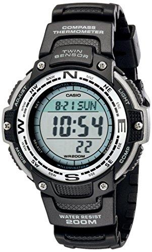 Casio Reloj Digital Negro con Sensor Gemelo SGW100-1V para Hombre