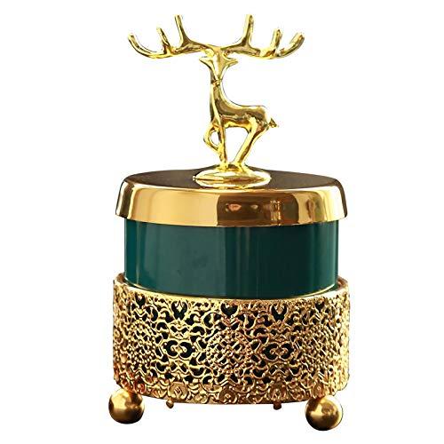 CENICEROS Tao Ciervos de Oro creativos Que fuman cerámica con Marco de Metal Soporte de Ceniza a Prueba de Viento para Cigarrillos Decoración de la Oficina en casa