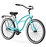 sixthreezero Around The Block Women's Single-Speed Beach Cruiser Bicycle, 26' Wheels, Teal Blue with Black Seat and Grips