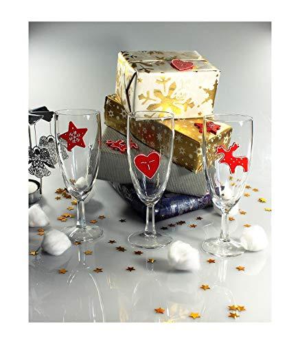 Astuceo 30 Weihnachtsdekorationen für Tisch