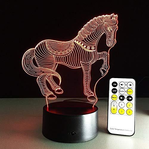 jiushixw 3D acryl nachtlampje met afstandsbediening van kleur veranderende tafellamp Next Desk Lamp Movie
