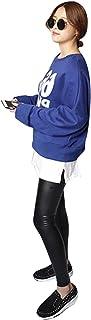 koeistore(コウエイストア) フェイクレイヤードつけ裾 Tシャツ カットソー 重ね着 無地 ウエストゴム レディース Y7002-a-wh