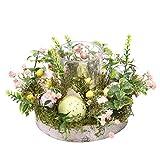 Portavelas de Pascua, corona de flores natural, soporte para velas con vaso de cristal, accesorio decorativo para bodas en casa
