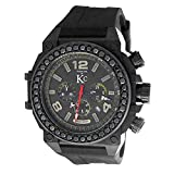 techno kc diamond watch - Men's New Techno Com Kc 50mm Weg Genuine 4.00ct Black Large Diamonds Large Watch