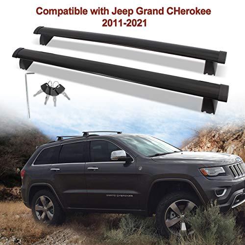 CrossBars Roof Racks Crossbars Compatible with Jeep Grand Cherokee 2011-2021,Side Rails, Aluminum...