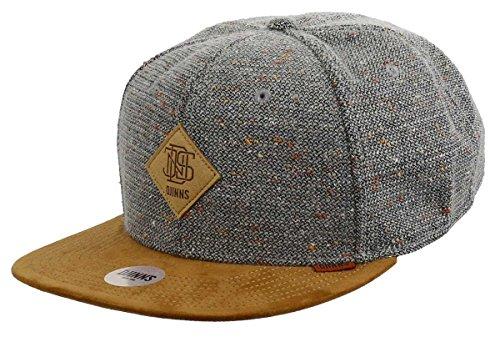 DJINNS - Spotted Wool Piqué (grijs) - Snapback Cap