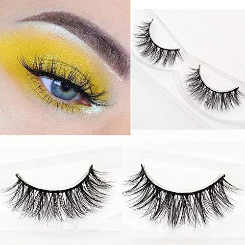 Mink Lashes Strip Natural Style Siberian Fur Fake Eyelashes Hand-made False Eyelash 1 Pair Miss Kiss False Eyelashes 3D06