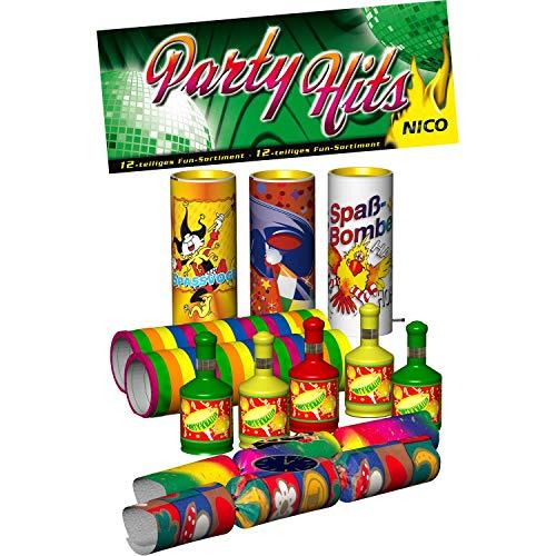 Party-Hits Tisch-FEUERWERK 12-tlg.