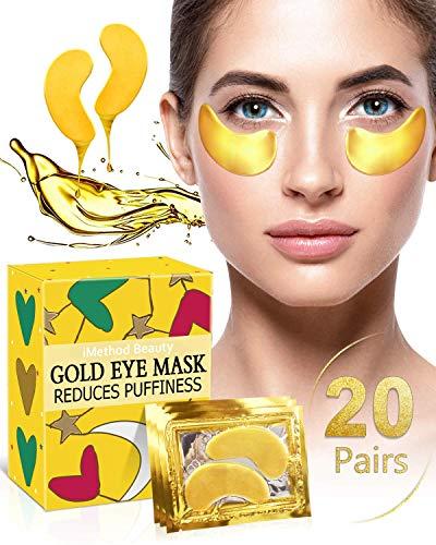 Under Eye Bags Treatment - iMethod Dark Circles Under Eye Treatment, Eye Mask For Puffy Eyes, Puffy Eyes Treatment, Under Eye Patches, Undereye Gel Pads, 20 Pairs