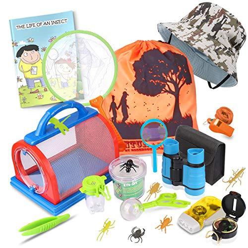 essenson Outdoor Explorer Kit & Bug Catcher Set with Binoculars, Compass,...