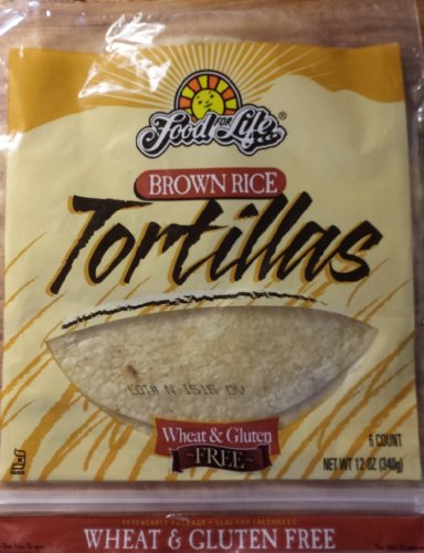 Food for Life Brown Rice Gluten Free Tortillas (Pack of 3) 12oz Each