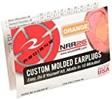 Radians Custom Molded Earplugs, Orange