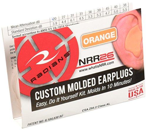 Radians Custom Molded Earplugs, Orange