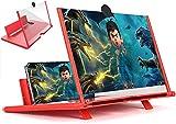 U/R Lente Ingrandimento Smartphone,Amplificatore dello Schermo Cellulare 3D 12 Pollici,d'I...