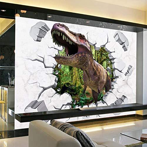 Wandaufkleber Wall Sticker 3D Cartoon gebrochen Wand Fenster Dinosaurier Jura Jahrhundert Schlafzimmer Kindergarten Wandaufkleber Wandbild 60X90CM