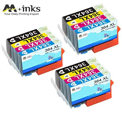 AA+inks 12 confezioni di ricambio per Sostituito per cartucce d'inchiostro HP 364XL 364 Compatibile con HP Photosmart 6520 5510 7510 7520 6510 5515 5520 C5380 B110a Stampanti HP OfficeJet 4620 4622