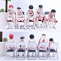家の装飾 5ピース10cmスラムダンクKaede RukawaフィギュアPVCアクションアニメシーンモデル玩具桜木フィギュア収集ギフト (Color : 8CM 5PCS B)