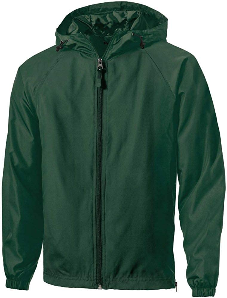 Mens or Youth Hooded Full Zip Raglan Jackets in Regular, Big and Tall