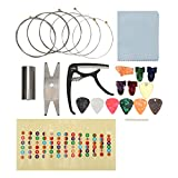 Electric guitar accessory kit replacement kit with tuner Capo string wrench scale sticker