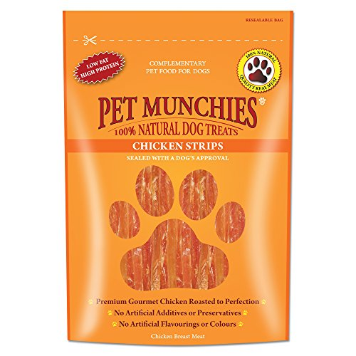 Pet Munchies Tiras de pollo natural de Munchies para mascotas Pack de 8