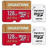 Gigastone 4K Game Pro 128GB MicroSDXC Speicherkarte 2er-Pack und SD-Adapter mit A2 App-Leistung bis...
