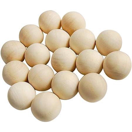 Unfinished Natural Wooden Balls Beads 100pcs Natural Hardwood Balls 1cm Dia.