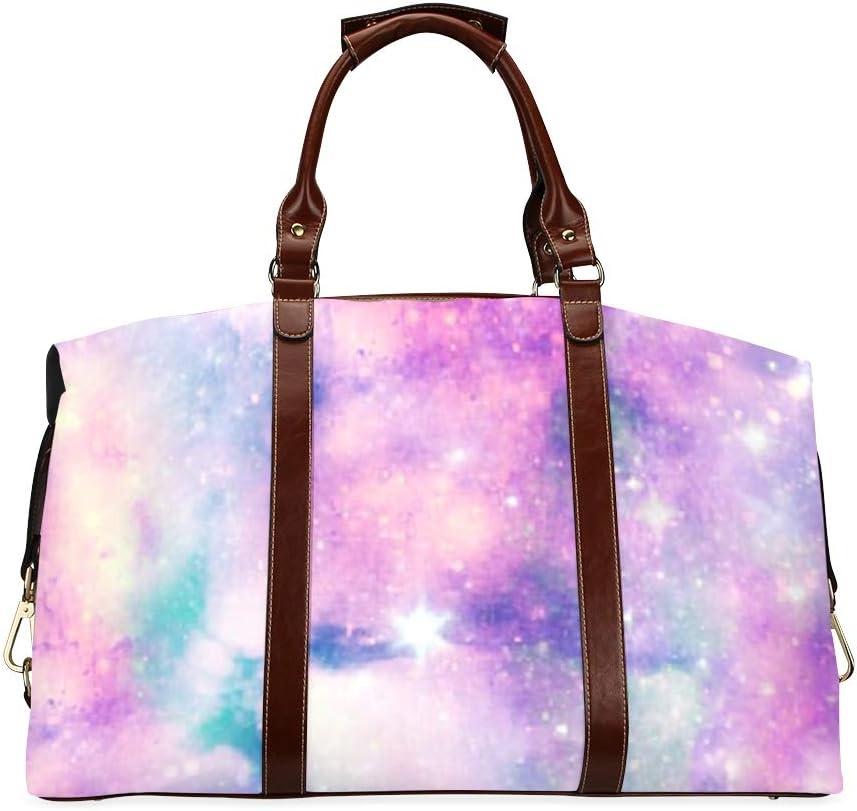 Milwaukee Mall Compact Travel Duffel Bag Trust Unicorn Print Universe Galaxy Classic