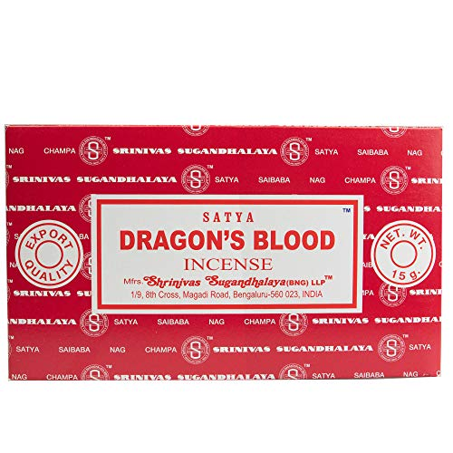 YesMandala Incienso Satya Dragon´s Blood - 12 Cajas de 15 Varillas -