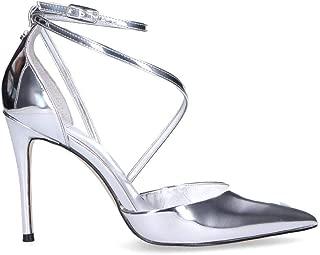 Guess Luxury Fashion Womens FL5BRTPAF08SILVER Silver Heels | Spring Summer 19