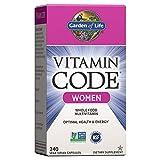 Garden of Life Multivitamin for Women, Vitamin Code Women's Multi - 240 Capsules, Whole Food Womens...