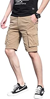 428230040f Pantalones Cortos Moda Masculina de Verano Pantalones Cortos Sueltos Pantalones  Cortos de Aventura al Aire Libre