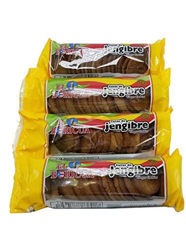 Galletas Cucas de Jenjibre Puerto Rico 4 Pack