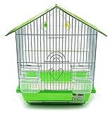 BPS Jaula para Pájaro Pajarera Periquito Canarios con Comedero Bebedero Saltado Perchas para Descanso Color al Azar 23x30x39 cm BPS-1231