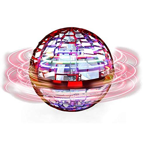 KAUQI Verbesserte FLYNOVA PRO Drohne, Globe Shape Magic Controller Mini Drohne Flying Toy Flying Spinner 360 ° rotierende rotierende LED-Leuchten geeignet für Kinder Erwachsene