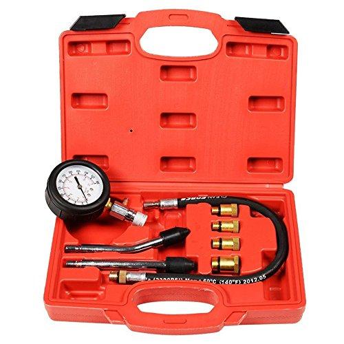 8pc Petrol Engine Cylinder Compression Tester Kit Automotive Tool Gauge TKT-11