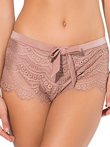 Smart & Sexy Women's Scalloped Crochet Lace Swimsuit Shortie, Ballet Fever, XL