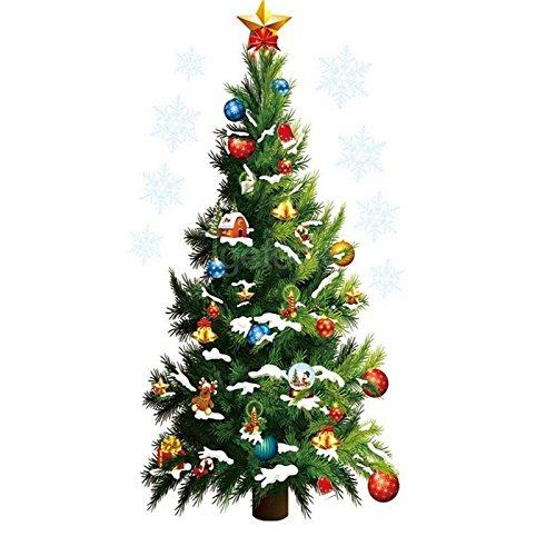 Anno nuovo vetrofania inverno albero di Natale adesivo parete parete a specchio adesivi vetro decorazione home diy decorazioni di Natale