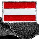 Patch Österreich Flagge Klett - Österreich Klettabzeichen, Flaggen Emblem Aufnäher mit Klettverschluss, Airsoft Aufkleber Klettbänder für Rucksäcke Custom Geschenke (8x5 cm)
