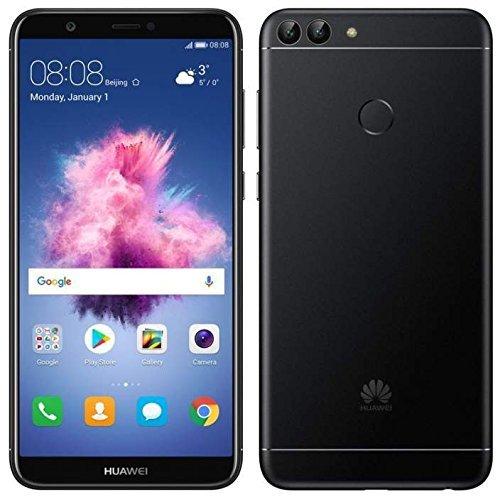 Huawei P Smart (32GB) 5.6' Fullview Display & Dual Camera's, 4G LTE Dual-SIM Factory Unlocked w/ Fingerprint Scanner FIG-L23 International Model, No Warranty (Black)