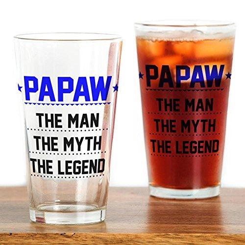 CafePress–papaw–Der Mann, der Mythos, die Legend Drinking GLA–trinken Glas