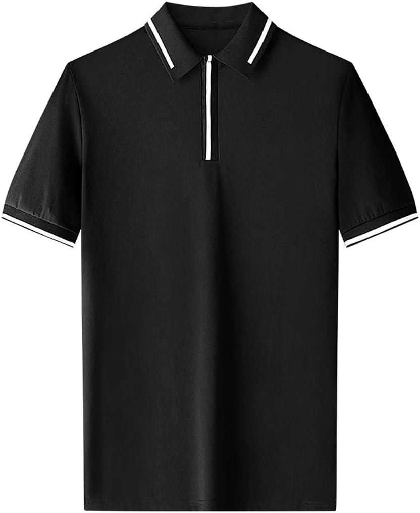 Houston Mall Wholesale HLMSKD Men's Shirts Polo Shirt Mercerized Short-Sleeved Co