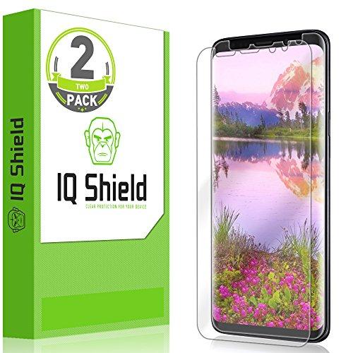 IQ Shield Screen Protector Compatible with Samsung Galaxy S9 Plus (2-Pack)(Edge to Edge)(Max Coverage) LiquidSkin Anti-Bubble Clear Film