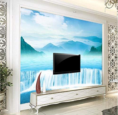 Finloveg Maßgeschneiderte Wandbilder High - Definition - Wasser Health Treasure Töpfe Hintergrund Wand Vliestapete-280X200Cm