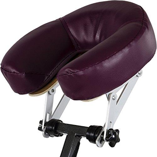 Movit® Klappbarer Massagestuhl/Tattoo Stuhl inkl. Tasche, belastbar bis 200 kg, Farbwahl, schadstoffgeprüft, Farbe Burgund
