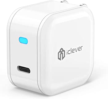 iClever 18W USB Type-C Wall Charger with Foldable Plug