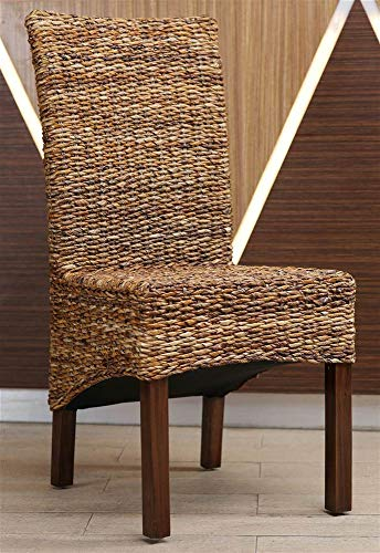 International Caravan Furniture Piece Gaby Woven Banana Dining Chair