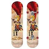 GCJJ-HSY 7-SART Puede Canada Maple Deck Standard Skateboard, Monopatín 31 Pulgadas Patinaje Completo Doble Patineta Patineta, Adecuado para Niños Y Principiantes (qi Tian Dasheng)